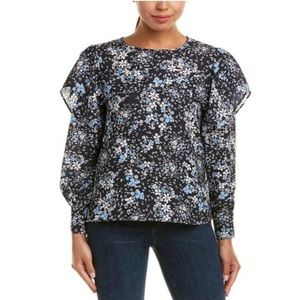 NWT Parker Scilla Floral Ruffle Top